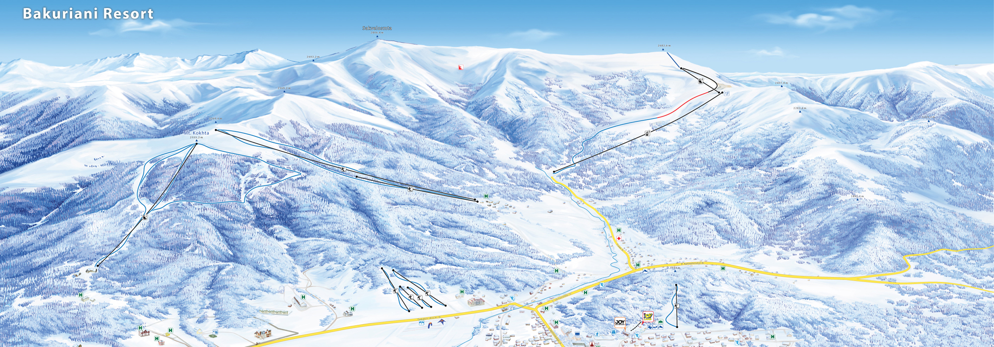 Ski Map Bakuriani