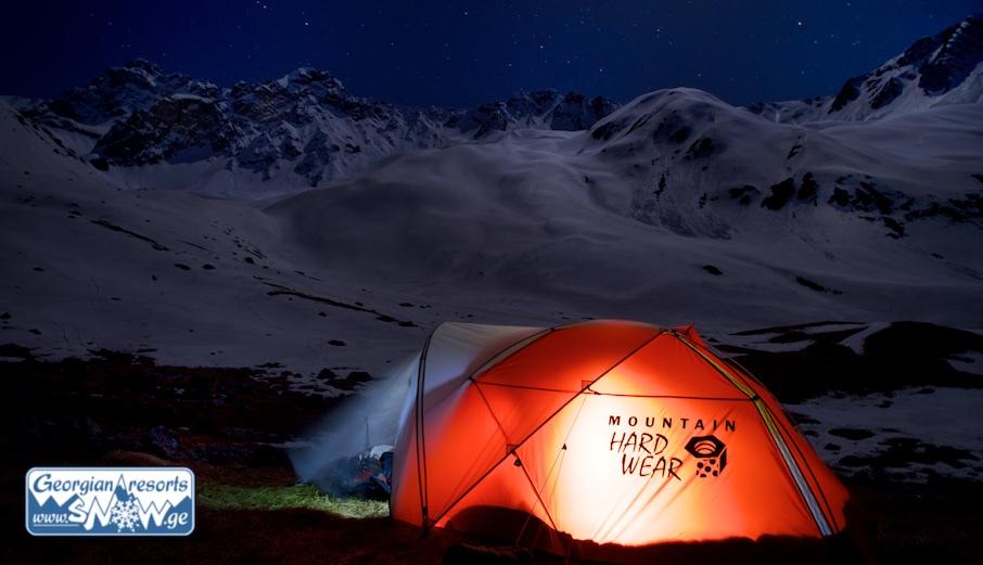 Backcountry Camp in Gudauri