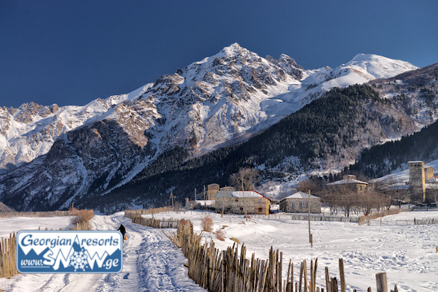 The surroundings of the resort Tetnuldi in Svaneti