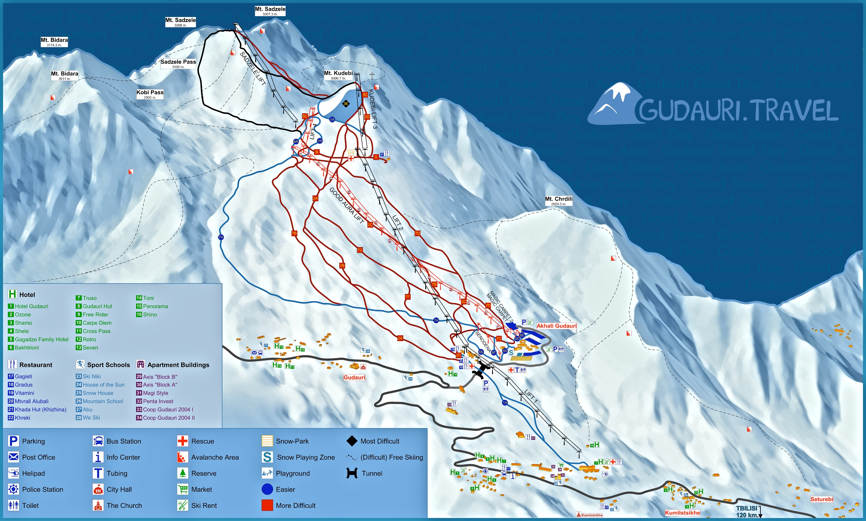 Georgia  Ski Resorts Piste Maps  SNOWGE  Skiing In