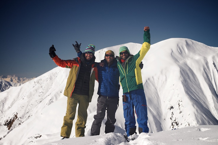 The crew: Matteo, Oleg and Luca. Photo - Oleg Gritskevich
