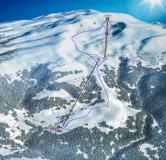 Карта склонов горнолыжного курорта Годердзи