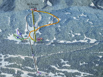 Ski map of Hatsvali ski resort (Svaneti. Georgia)