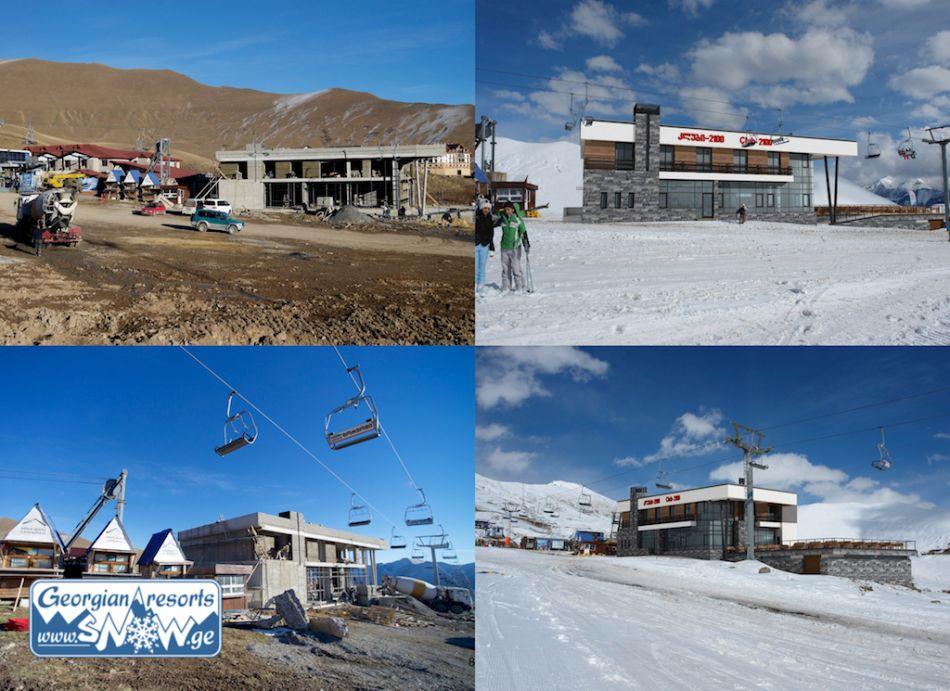 """Строительство нового ресторана """"Клуб 2100"""" в Гудаури, Грузия"""