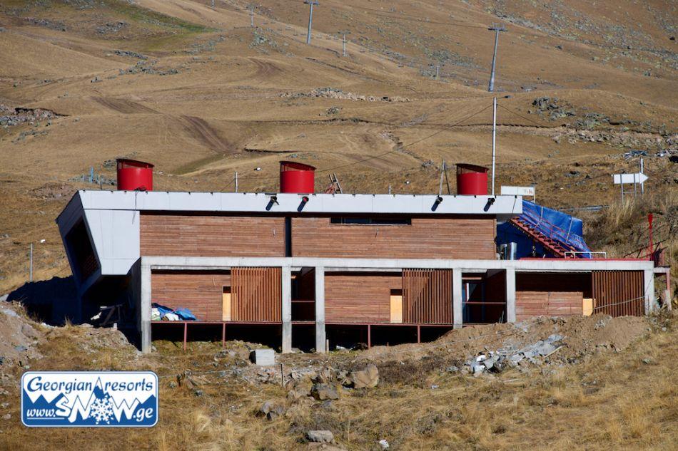 Строительство банного комплекса на горнолыжном курорте Гудаури, Грузия